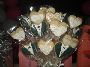 recuerdo para matrimonios. regala galletas individulaes, bouquet, sabores