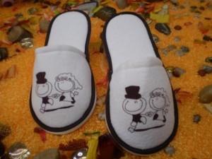 fabrica de pantuflas para bodas. articulos publicitarios.